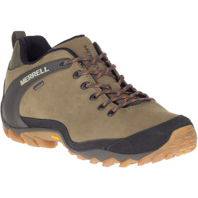 Merrell Cham 8 Leather Low GTX Sko Herrer, olive